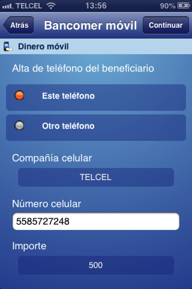Image of Bancomer móvil for iPhone